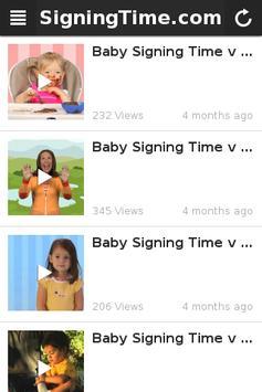 Baby Sign Language Dictionary apk screenshot