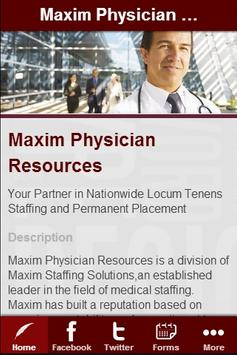 Maxim Physician Resources poster