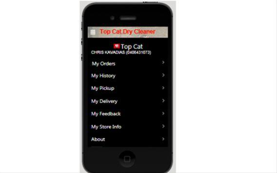 Top Cat dry cleaners apk screenshot