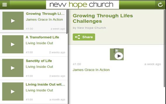 New Hope Church Bend apk screenshot