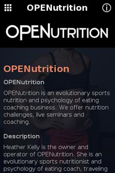 OPENutrition poster