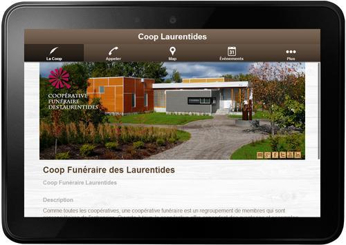 Coop Funéraire Laurentides apk screenshot