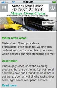 Mister Oven Clean apk screenshot