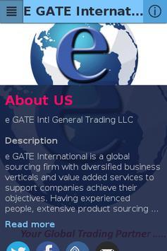 E GATE International apk screenshot