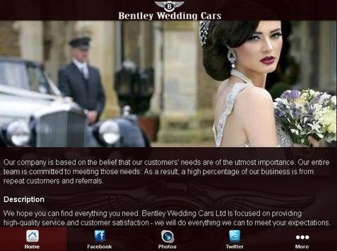 Bentley Wedding Cars poster