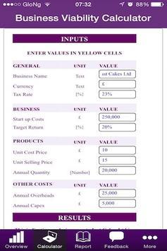 Business Viability Calculator poster