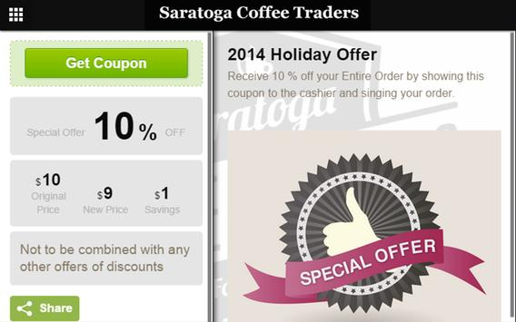 Saratoga Coffee Traders apk screenshot