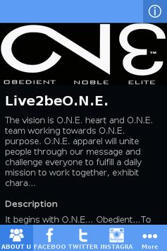Live2beO.N.E poster