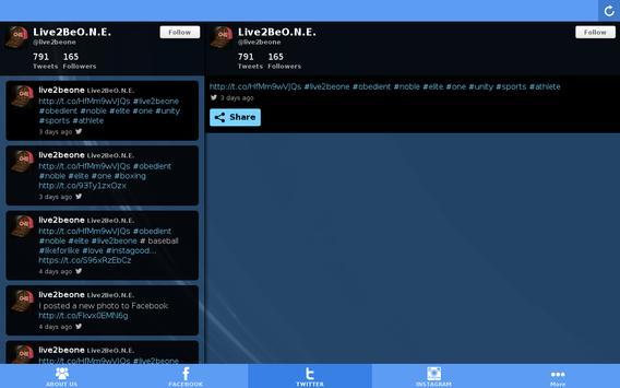 Live2beO.N.E apk screenshot