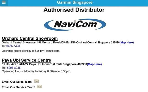 Garmin Singapore apk screenshot