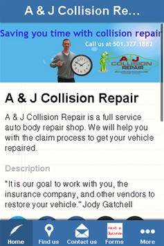 A & J Collision Repair poster