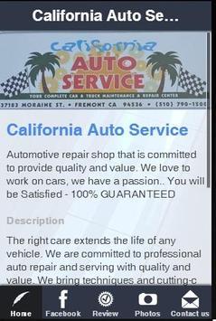 California Auto Service poster