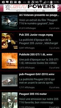 Club GTIPOWERS 205 GTI apk screenshot