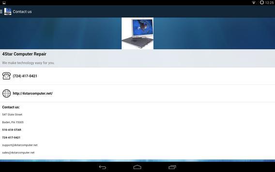 4Star Computer Repair apk screenshot
