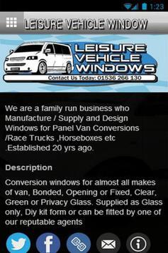 Leisure Vehicle Windows apk screenshot