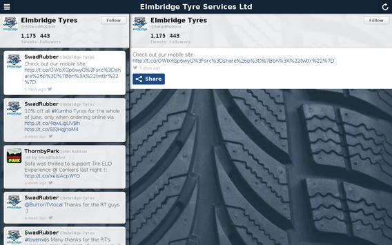 Elmbridge Tyre Services Ltd apk screenshot