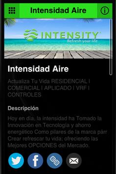 Intensity Aire poster