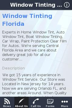 Window Tinting Florida apk screenshot