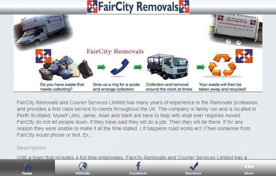 FairCity Removals apk screenshot
