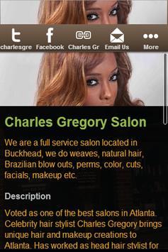 Charles Gregory Salon apk screenshot
