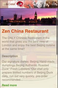 Zen China Restaurant poster