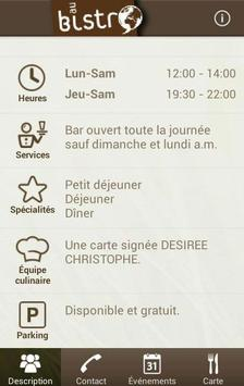 Au Bistro (FR) poster