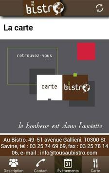 Au Bistro (FR) apk screenshot