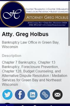 Atty. Gregory A. Holbus poster