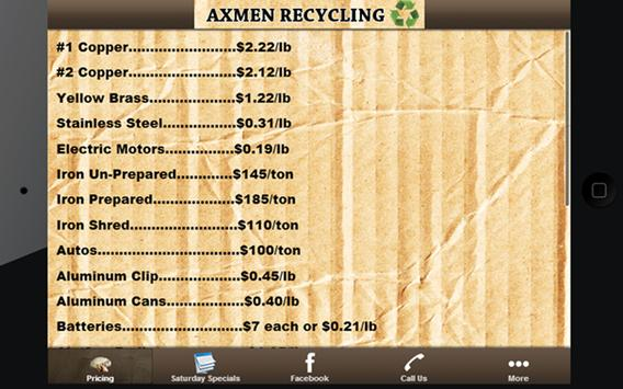 Axmen Recycling apk screenshot