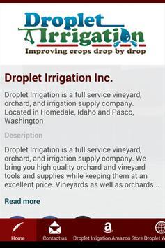 Droplet Irrigation Inc. poster