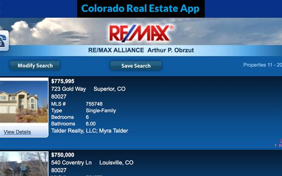 Colorado Real Estate apk screenshot