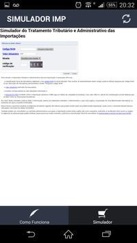 Simulador de importação apk screenshot