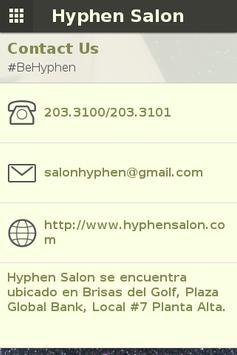 Hyphen Salon Panamá apk screenshot