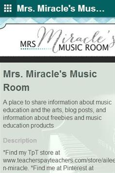 Mrs. Miracle's Music Room poster