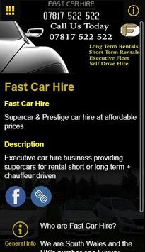 Fast Car Hire apk screenshot