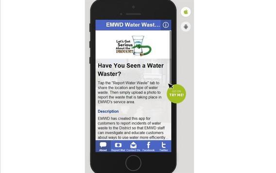 EMWD Water Waste Reporter apk screenshot