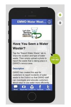 EMWD Water Waste Reporter poster