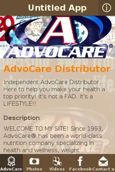 AdvoCare Distributor poster