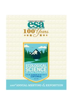 ESA 2015 Annual Meeting poster
