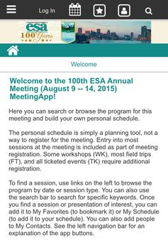 ESA 2015 Annual Meeting apk screenshot