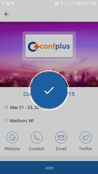 ConfPlus apk screenshot