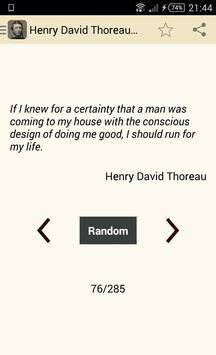 Henry David Thoreau Quotes poster