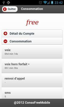 Suivi Conso Free Mobile apk screenshot