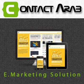 Contact Arab E Marketing poster