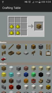 Crafting Table for Minecraft apk screenshot
