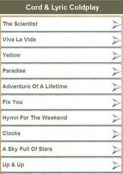 Cord & Liryc Coldplay apk screenshot