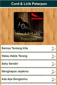 Cord & Lirik Lagu Peterpan apk screenshot