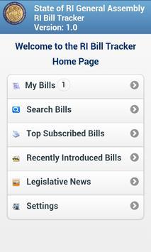 RI Bill Tracker apk screenshot