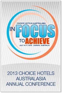 Choice Hotels Australasia 2013 poster