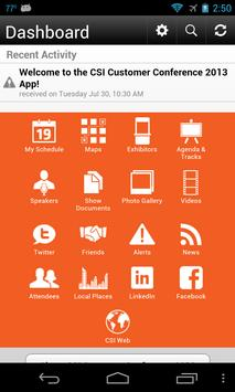 CSI Customer Conference 2013 apk screenshot